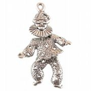 Dancing Clown Moving Sterling Silver Charm